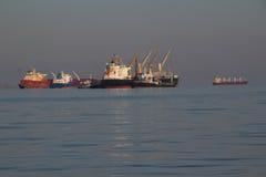 Ogromny tankowiec na wysokich morzach Zdjęcie Stock