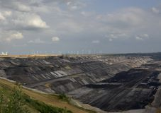 Ogromny teren kopalnia węgla Niemcy obraz stock