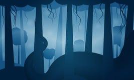 Ogromny wąż w dżungli ilustracja wektor
