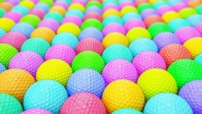 Ogromny Wibrujący szyk Kolorowe piłki golfowe ilustracji