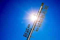 ogrzewa gorącego nowego lato słońca termometr Fotografia Royalty Free