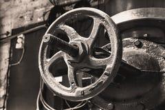 Ogrzewanie metalu drymby z żeliwnymi klapami Obrazy Royalty Free