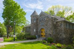 Ogunquit Free Memorial Library, ME, USA Royalty Free Stock Images