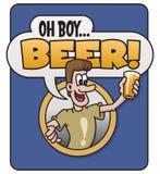 Oh мальчик, пиво! дизайн иллюстрация штока