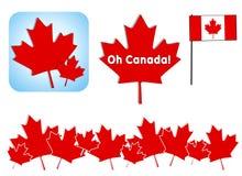 Oh arte de grampo do dia de Canadá Fotografia de Stock