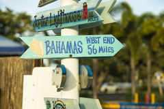 Bahamas sign in Souther Florida!. Set up shop in West Palm Beach and this was posted at a local marina royalty free stock images