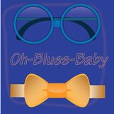 Oh bebé de azules Imagen de archivo libre de regalías