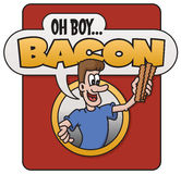 Oh Boy, Bacon!  design Stock Image