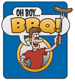 Oh Boy, Barbecue!  design Royalty Free Stock Photography