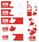Oh Canada. Canada Day Banners Stock Photo
