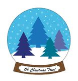 Oh Christmas Tree Holiday Snowglobe Stock Image