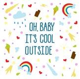 Oh dziecko ja ` s chłodno outside Zdjęcie Royalty Free