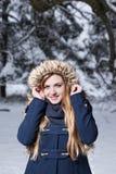 Oh finalmente ¡nieve! Foto de archivo libre de regalías