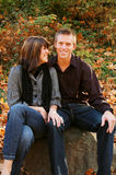 Oh So Happy. Very attractive couple in love posing for portraits Stock Photography