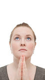 Oh helfen mein Gott bitte!! Frauenbeten Stockbilder