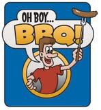 Oh Jongen, Barbecue! ontwerp Royalty-vrije Stock Fotografie