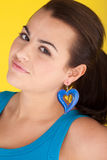 Oh Really - A Look Of Skepticism. A beautful woman her head to one side in disbelief stock images