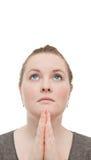Oh meu deus ajuda por favor!! Praying da mulher Imagens de Stock