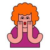Oh mi estilo del arte pop de la mujer de dios Muchacha de OMG en miedo libre illustration