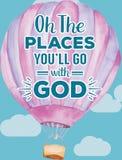 Oh miejsca Ty ` ll Iść Z bóg Zdjęcie Royalty Free