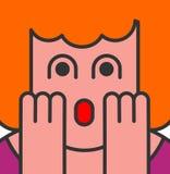 Oh mijn het pop-artstijl van de godsvrouw OMG-meisje in vrees de uitroep is vector illustratie