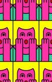 Oh mijn patroon van de godsvrouw OMG-meisje in vrees de uitroep is shocke royalty-vrije illustratie