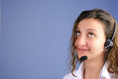 Oh No!. Support or customer care photo looking up. Oh No expression stock image