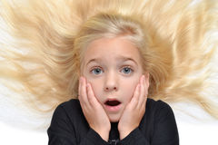 Oh No. Young girl with expression on face Royalty Free Stock Images