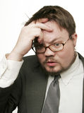 OH NO!. A very worried man stock photography