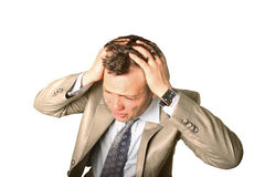 Oh no!!!. Businessman shocked with hand to his head Stock Images