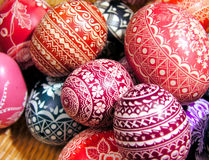 Oh, no, Easter eggs again... Lots of them royalty free stock photography