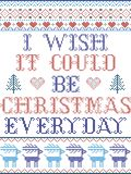Oh wünsche ich, dass es das Weihnachtstägliche skandinavische Muster sein könnte, das bis zum festlichem Winter der nordischen Ku stockfotografie