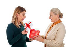 Oh, wow, look what`s in the box! Royalty Free Stock Photo
