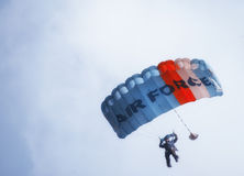 Parachute descent Stock Image