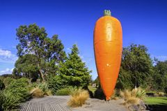 Ohakune Big Carrot New Zealand. Ohakune Big Carrot, World`s Largest Carrot in Town of Ohakune New Zealand North Island Stock Photography