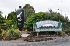Ohakune Road Sign and black carrot Royalty Free Stock Photography