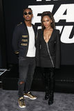 Ohana Bam, Serayah McNeill. NEW YORK-APR 8: Musician Ohana Bam and actress Serayah McNeill attend the premiere of `The Fate of the Furious` at Radio City Music Royalty Free Stock Photos