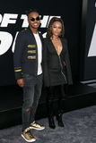 Ohana Bam, Serayah McNeill. NEW YORK-APR 8: Musician Ohana Bam and actress Serayah McNeill attend the premiere of `The Fate of the Furious` at Radio City Music Royalty Free Stock Images