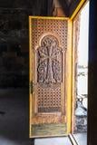Ohanavan Armenien, 15th September 2017: Dekorativ dörr till nollan Royaltyfri Bild