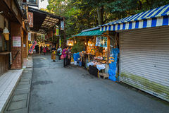 Oharai-machi Street in Ise City, Mie Prefecture, Japan Stock Image