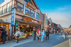 Oharai-machi Street in Ise City, Mie Prefecture, Japan Royalty Free Stock Photography