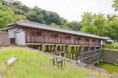Ohashiroka zakrywał most Wakayama kasztel, Japonia Zdjęcie Stock