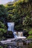 `Ohe`o Gulch Falls. 7 Sacred Pools, `Ohe`o Gulch, Kipahulu, Haleakala National Park, Maui, Hawaii stock photo