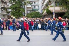 Ohi天游行在塞萨罗尼基 免版税库存图片
