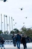 Ohi空气军事技术天游行在塞萨罗尼基 库存图片