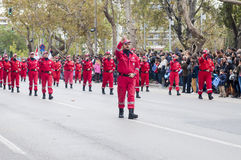 Ohi Day parade in Thessaloniki Royalty Free Stock Photos