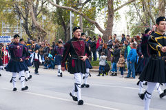 Ohi Day parade in Thessaloniki Stock Image