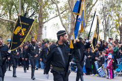 Ohi Day parade in Thessaloniki Stock Photography