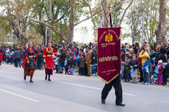 Ohi Day parade in Thessaloniki Royalty Free Stock Photography