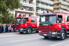 Ohi Day parade in Thessaloniki Royalty Free Stock Photo